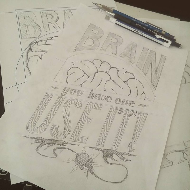 Brain poster - Sketches