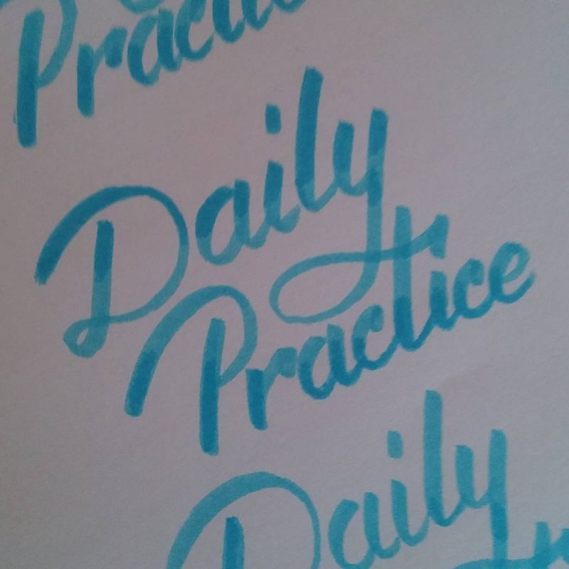 Daily practice calligraphy