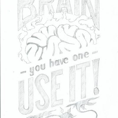 Brain poster - clean sketch