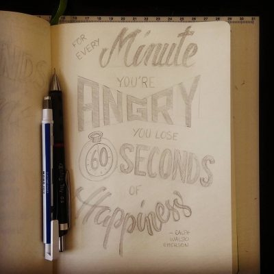 Every minute you're angry... - Sketch