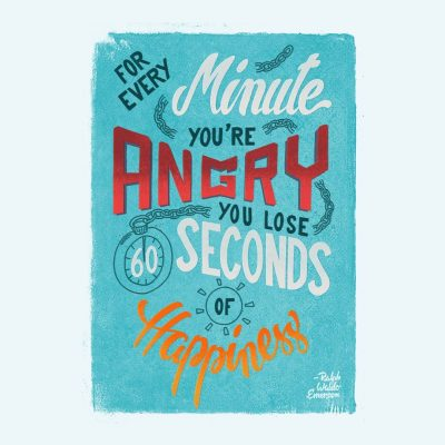 Every minute you're angry...