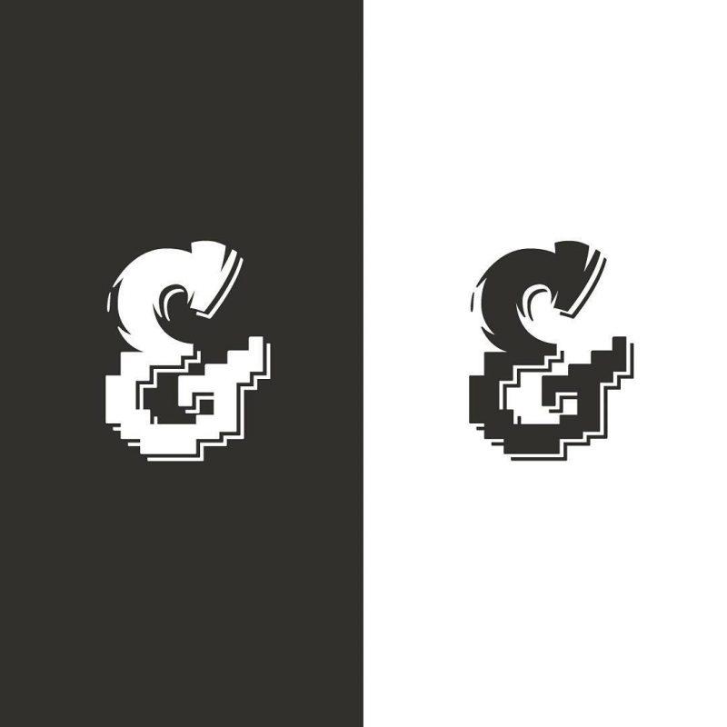 Bristles & Pixels ampersand