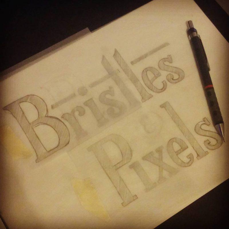 Bristles & Pixels - Raw sketch
