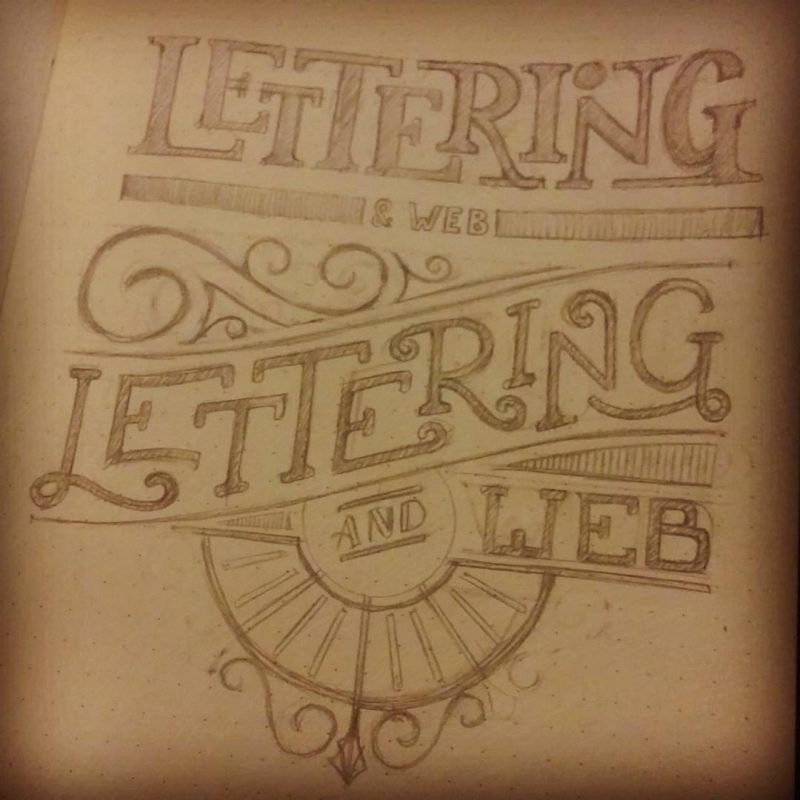Lettering and web - Sketches