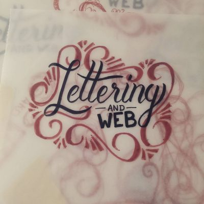 Lettering and web - Ink sketch