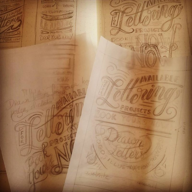 Available for lettering - Sketches