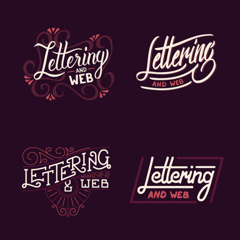 Lettering and web