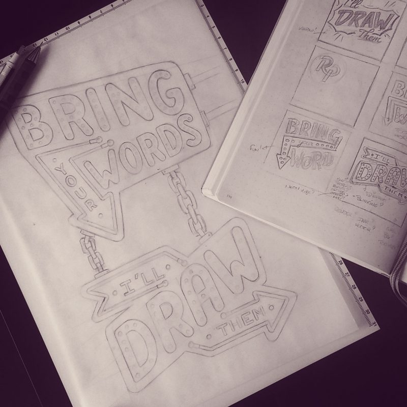 Bring you words... - Process sketches