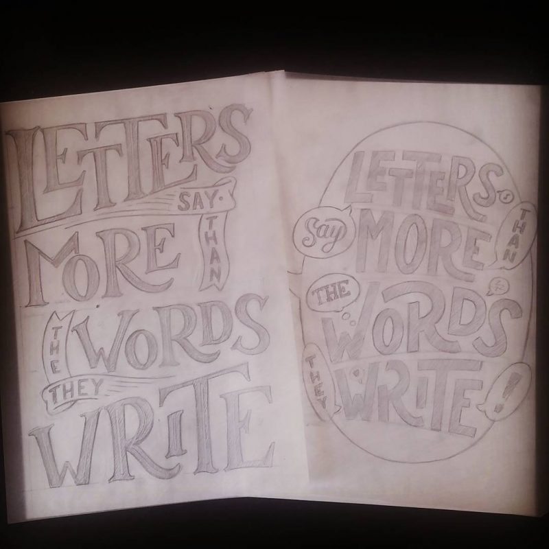 Letters say more... - Large sketches