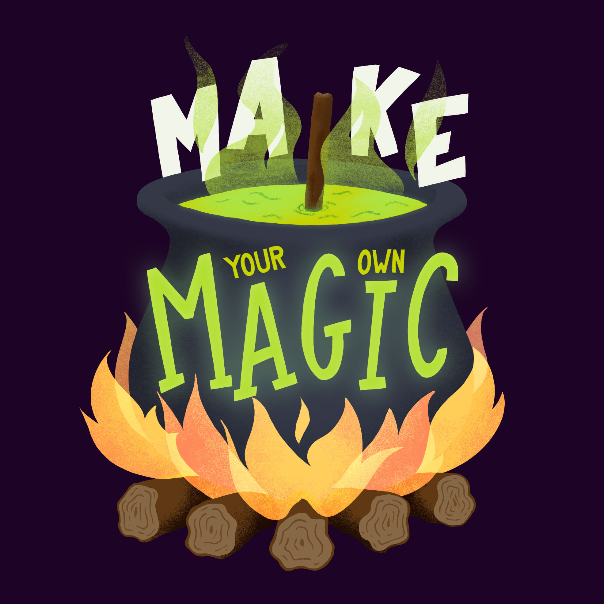 """Make your own magic"" illustration"