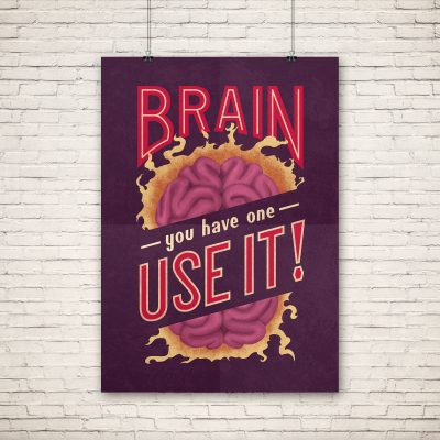 """Brain"" poster"