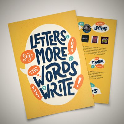 """Letters say more..."" flyers"