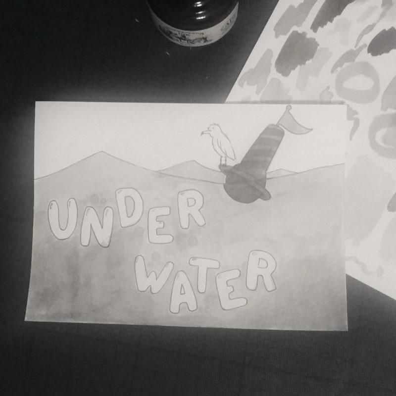 Inktober 2017 - 04 - Underwater